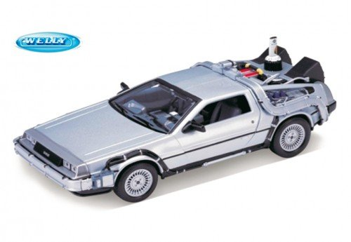 2 Teil-formel (Welly 22441 - Sammlermodell DeLorean Back to the Future Teil 2 1/24 aus Metall)