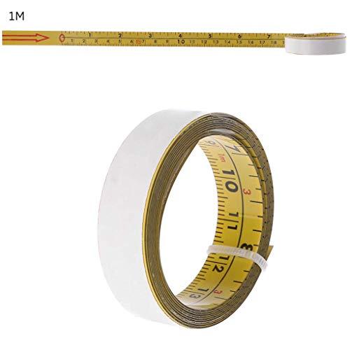 Ogquaton Zoll u0026 Metrisch Selbstklebendes Maßband Stahl Gehrungssäge Skala Gehrungsschiene Lineal Premium-Qualität
