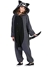 wotogold Pijama de Mapache Animal Trajes de Cosplay Adultos Unisex