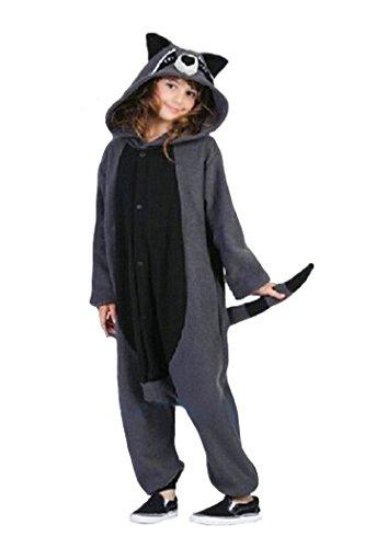 är Pyjama Unisex Erwachsene Cosplay Kostüme Gray (Erwachsene Waschbär Kostüm)