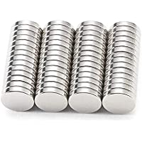 Magnete Stark Neodym (56 Stück) mit bis zu 2.4 Kilo Haftstärke [10x2mm] für extrem starken Halt - Mini Magnet für Magnettafel, Kühlschrank, Whiteboard, Pinnwand, Wände › ultrastark & unauffällig