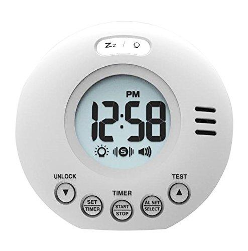 Geemarc Wake'n Shake Voyager Reloj de Alarma portátil para Viajes con Alarma Extra Fuerte 75 dB + vibración...