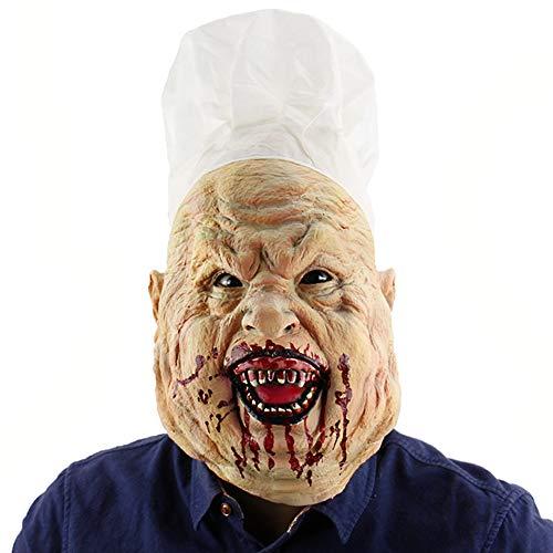 König Bösen Erwachsene Für Kostüm - Halloween Mask Horror Bloody Crazy Chef Latex Haunted House Dressing Kopfbedeckung