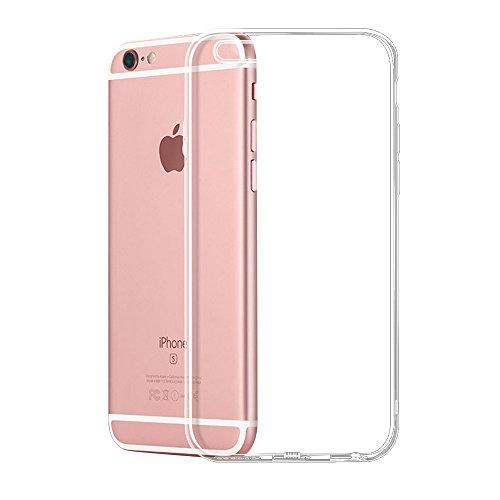 iPhone 6S 6 Hülle, DOSMUNG Handyhülle iPhone 6S 6-Transparente und Kristallklar-Premium Kratzfest Silikon TPU, Ultradünne Schutzhülle Case für iPhone 6 6S (4,7 Zoll)