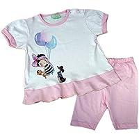 Mondo Blu - Pigiama 28-7201 per neonata, 100% cotone, manica corta