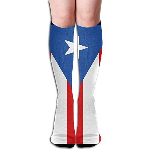 (Puerto Rico Flag Women's Fashion Knee High Socks Casual Socks)