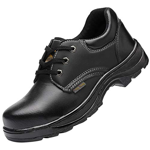 Epig Couples Bright Leather Protective Shoes Atmungsaktive, rutschfeste Stahlkappen-Arbeitsschuhe