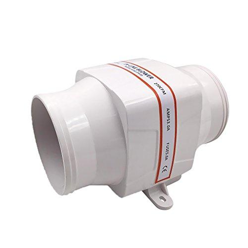 Cfm Pumpe (Gazechimp 102mm Inline-Marine Bilge Luft Gebläse Lüfter 24V DC 270 CFM leise Boot weiß)