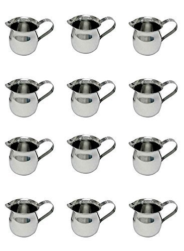 3 Creamer (Update International BC-3 Stainless Steel Bell Creamer, 3-Ounce, 2-1/4-Inch, Set of 12 by Update International)
