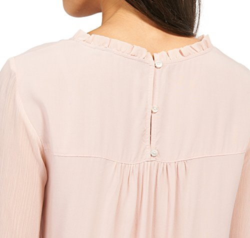 TOM TAILOR Damen Bluse Fluent Fabric Mix Blouse rose smoke