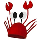 Treasure-house Krebs Hut Krabben Krebs Mütze für Kostüm Karneval Halloween Fasching