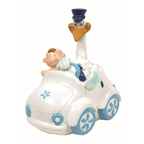 Figure Cake Christening Cigüena blue baby car