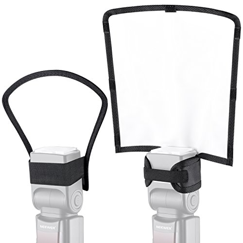 Seite-diffusor (Neewer 2 Stück Kamera Blitz Softbox Diffusor Kit 9,8x9,3x8,3 Zoll Bendable Diffuser Weiß Reflektor und 7,3x7,9x4,1 Zoll Silber/Weiß Zwei-Seiten Reflektor universell Mount)