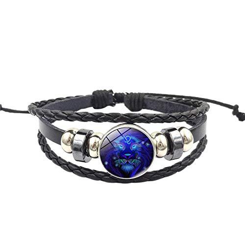 UINGKID Damen-Armband Charm Kreative Stilvolle Mode Frauen Sternbild Sternzeichen Anhänger Mehrschichtige Handgemachte (Mardi Love Kostüm)