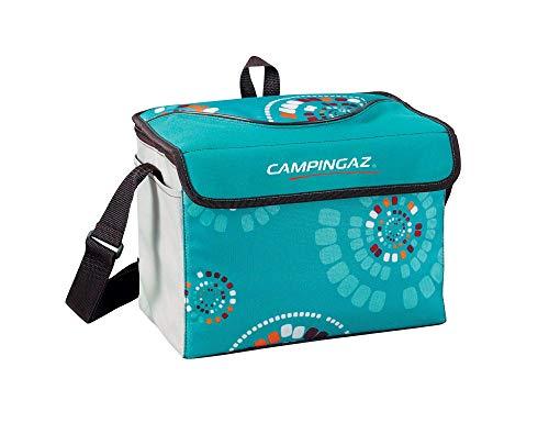 Campingaz Kühltasche Ethnic MiniMaxi, Faltbare Isotasche Zum Einkaufen, Camping Oder als Picknicktasche, türkis-grau, 9L