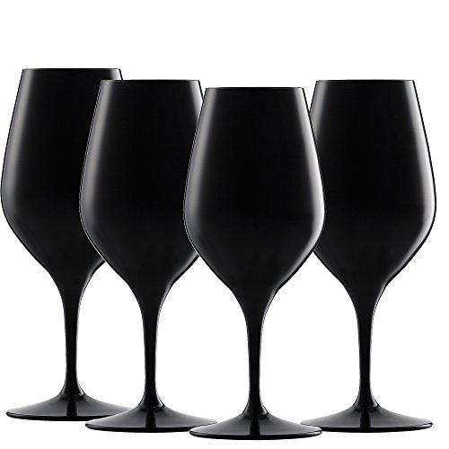 Spiegelau & Nachtmann, 4-teiliges Tastingglas-Set, Kristallglas, Authentis, Schwarz, 4408551