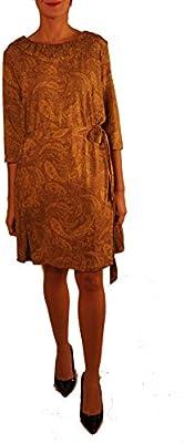 Hope1967 - Vestido de Mujer Alexia estampado paisley camel