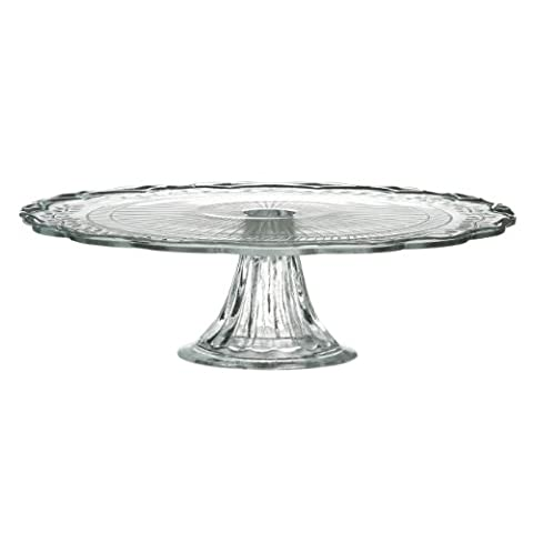Clear Glass Serving Cupcake Cake Stand Plate - 30 cm