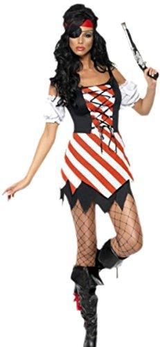 erdbeerloft - Damen Piraten Karnevalskostüm, M, (Stiefel Sparrow Jack)