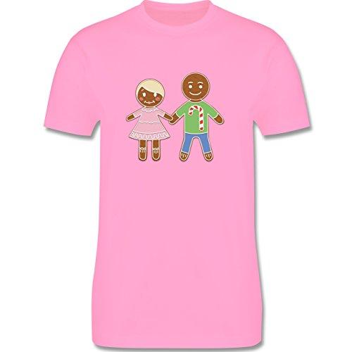 Weihnachten & Silvester - Lebkuchenmann und -frau - Herren Premium T-Shirt Rosa