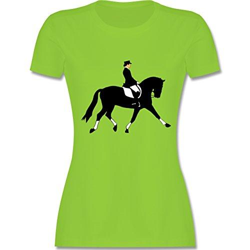Reitsport - Dressurreiten - tailliertes Premium T-Shirt mit Rundhalsausschnitt für Damen Hellgrün