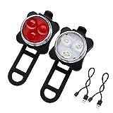 Mangetal LED Fahrradlicht Set USB Aufladbar Wasserdicht Fahrradlampe Set, LED...