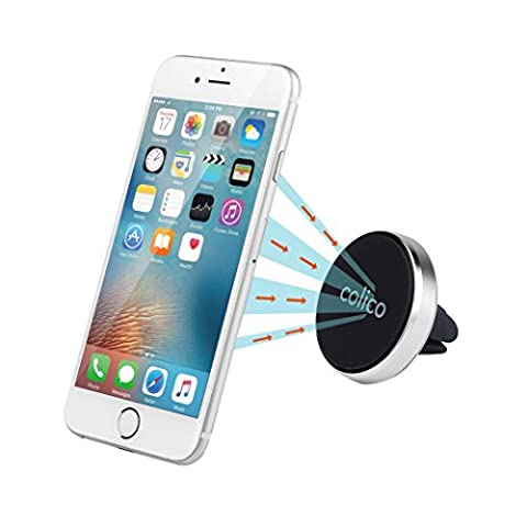 Magnetic Phone Auto Car Mount, colico Aluminum Air Vent Cell Phone Holder and Car Universal Vent Mount, for Smart Phones and Mini Tablettes, GPS Device and More [Rotation 360 Degree Swivel Ball, mise à niveau Version]