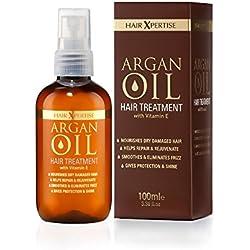 Pelo xpertise aceite de argán marroquí Tratamiento para cabello seco dañado Pelo | nutre y hidrata | reparaciones, Alisa y trae vida a tu cabello.–Para todo tipo de Cabellos (100ml)