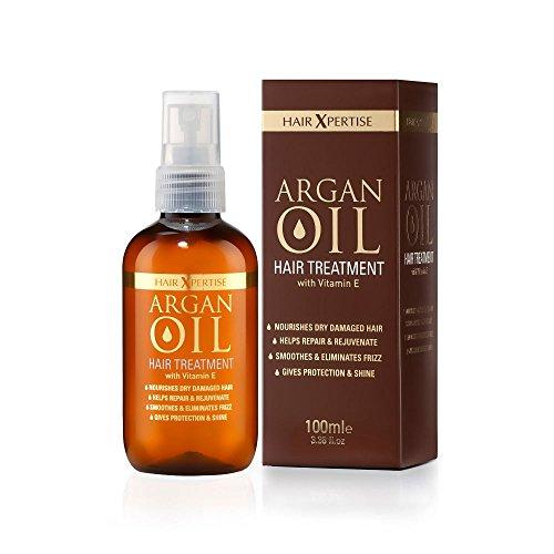 Huile d'argan marocaine Hair Xpertise - Traitement pour cheveux abîmés | Nourrit et hydrate les cheveux secs | Répare, lisse et redonne vie à vos cheveux. - pour tous les types de cheveux (100 ml)