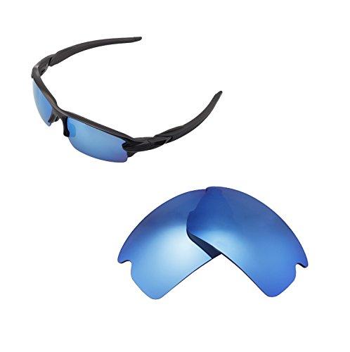 Walleva Ersatzgläser für Oakley Flak 2.0 Sonnenbrille - Verschiedene Optionen erhältlich, Unisex-Erwachsene, Ice Blue Coated - ISARC Polarized, Einheitsgröße