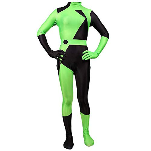 WEGCJU Spicy Girl Kim Possible Strumpfhosen 2019 Halloween Kostüm Overall Für Erwachsene Kinder Halloween Kostüm,Adults-L (Girl Adult Kostüm)