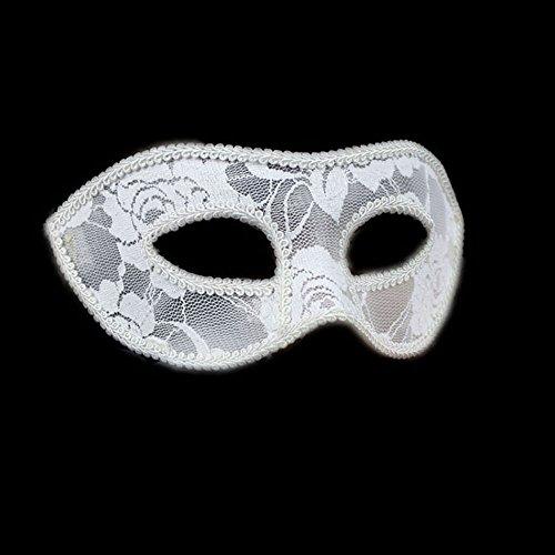 MMRM weiblichen Blütenspitze MASKE Maskerade-Party Halloween-Party-Prinzessin Ball Venedig RPG (weiß)