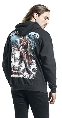 Amon Amarth Jomsviking Kapuzenjacke schwarz Schwarz