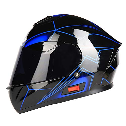 rrad Helm Dual Shield Mit Innerem Sunny Lens Modular Motorrad Racing Helme Anti Herbst Outdoor Mountain Road Motocross Helm ()