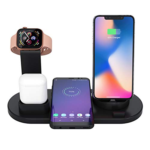 Soporte Base Carga iPhone AirPods Apple Watch, 3 1