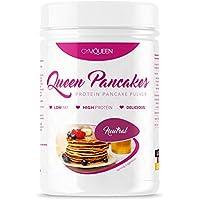 Protein Pancake Mix | Low Carb | in 2 Minuten zubereitet | Eiweiß Pfannkuchen Mix, Waffel Mischung zum Abnehmen | Low Fat, High Protein Frühstück | GymQueen Pulver - Neutral (500g)