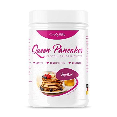 PROTEIN PANCAKE MIX | mehr Eiweiß weniger Zucker | schnell und einfach zubereitet | Pfannkuchen Backmischung | Queen Pancakes Neutral | GymQueen | 500g