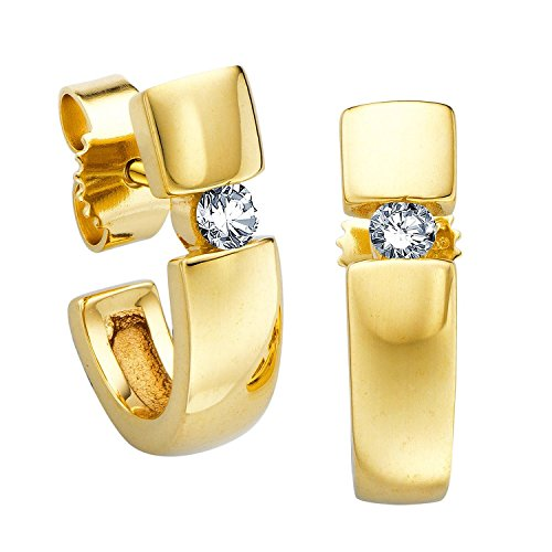 Diamond Line Damen - Ohrstecker 585er Gold 2 Diamanten ca. 0.15ct / Gelbgold