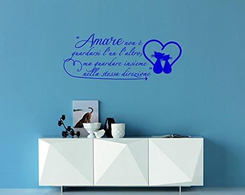 Adesivi murali frase amare exupéry amore decorazioni da parete scritte sui muri per la casa arredo moderno