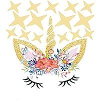 Ouken Unicornio Estrellas Pared Etiqueta Switch Pared calcomanías niños habitación Dormitorio decoración Bricolaje Cartel decoración de la Pared, Color 2