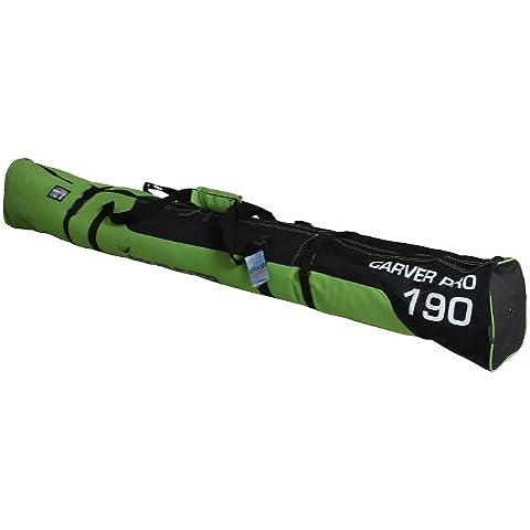 Henry Brubaker - Borso porta sci Carver Pro 2.0, 170 cm o 190 cm, nuova edizione invernale 11 colori, verde (Verde/nero), 170