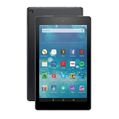 Tablet Fire HD 8, pantalla HD de 8'' (20,3 cm), Wi-Fi, 16 GB (Negro) - Incluye ofertas especiales width=