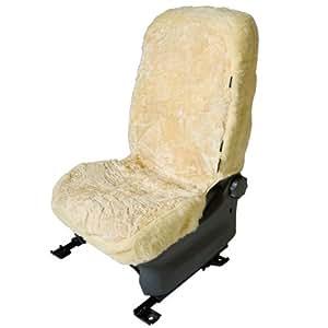 Sitzbezug Auto universal Lammfell Sitzbezüge Beige Schonbezug Kfz Bezug Beige