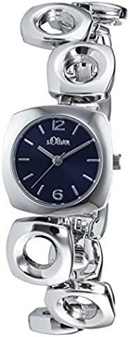 s.Oliver Damen-Armbanduhr XS Analog Quarz Alloy