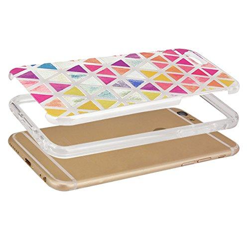 GrandEver Coque iPhone 6 Plus et iPhone 6s Plus Transparente Silicone Gel avec Mandal Noir Motif Fine Design Bumper Utra Mice Soft Doux Flexible Case Etui Cover Housse Triangle
