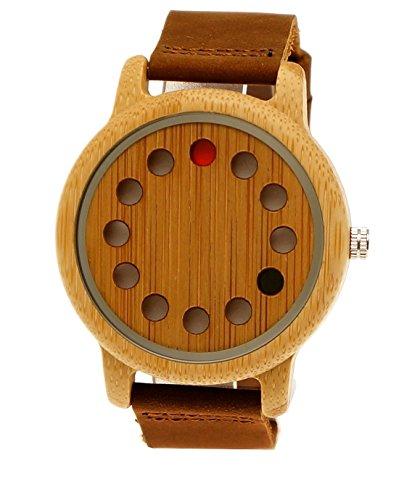 Handgefertigte Holzwerk Germany® Designer Unisex Damen-Uhr Herren-Uhr Öko Natur Holz-Uhr Leder Armband-Uhr Analog Klassisch Quarz-Uhr Future Edition Braun Ahorn ASIN: B01MCVASQN