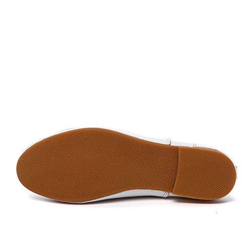 Petites chaussures blanches/Version coréenne des appartements/ Chaussures de style British Academy/ faible chaussures féminines plates A
