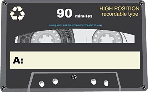 Audio Cassette High Position Alta Calidad De Coche De Parachoques Etiqueta Engomada 12 x 10 cm