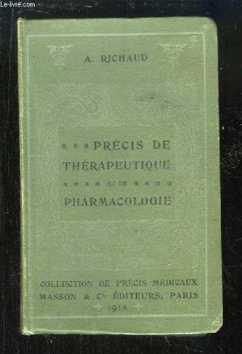 Précis de thérapeutique et de pharmacologie