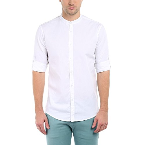 Dennis Lingo Men's Cotton Casual Full Sleeve Slim Fit Shirt...